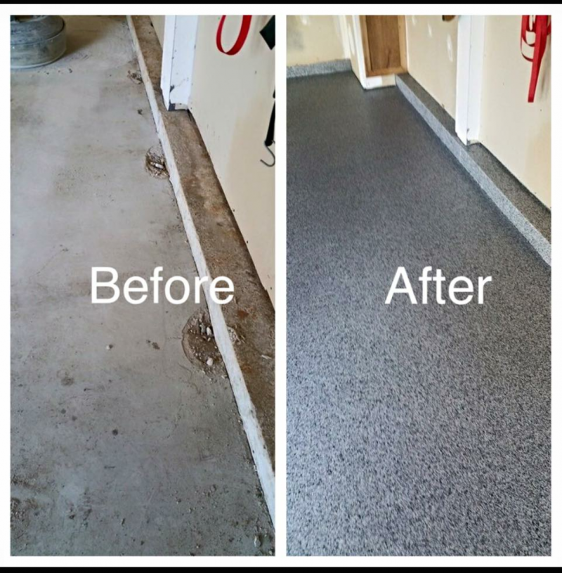 Garage floor coating and surface system