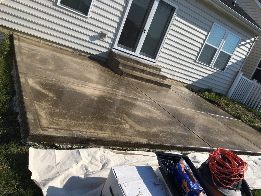 finishing a cement back patio