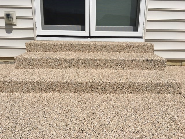 patio steps that have been finished