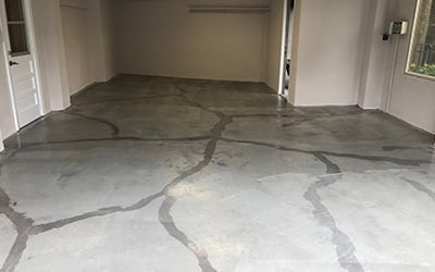 first steps in finishing a garage floor