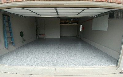 after finishing a garage floor